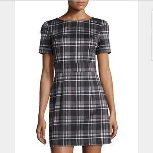 French Connection Gray and Black Plaid Minidress